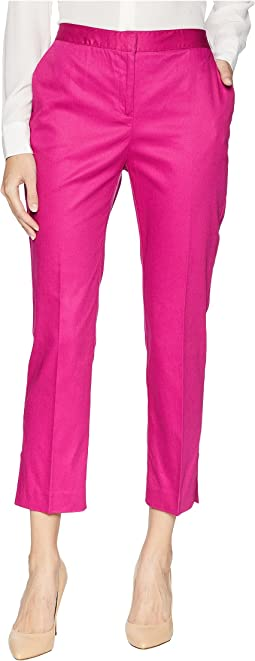 Slim Leg Trousers w/ Side Slits