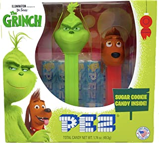 Pez Candy Grinch Twin Pack – Grinch and Mini Max Dispensers with Sugar Cookie Candy Rolls and Tru Inertia Kazoo