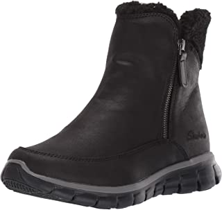 Skechers SYNERGY - Short Quarter Zipper Boot with Sherpa Trim womens Snow Boot