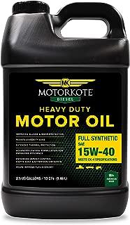 Motorkote MK-50970-02 15W40 Full Synthetic Diesel Motor Oil, 2.5 Gallon/10 Quart