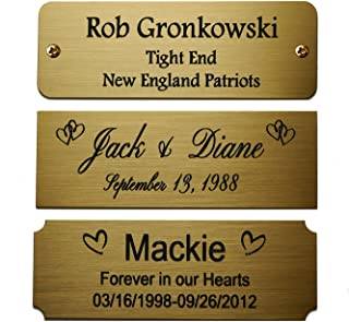 engraved metal plate for picture frame