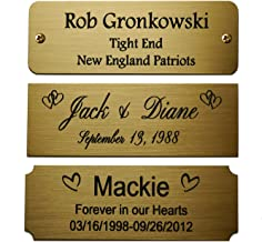 brass name plates for picture frames