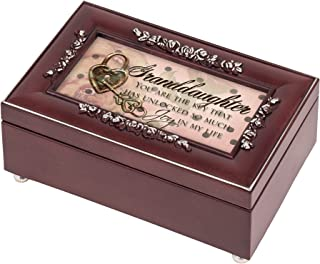 Granddaughter Joy Rosewood Jewelry Music Box Plays You are my Sunshine