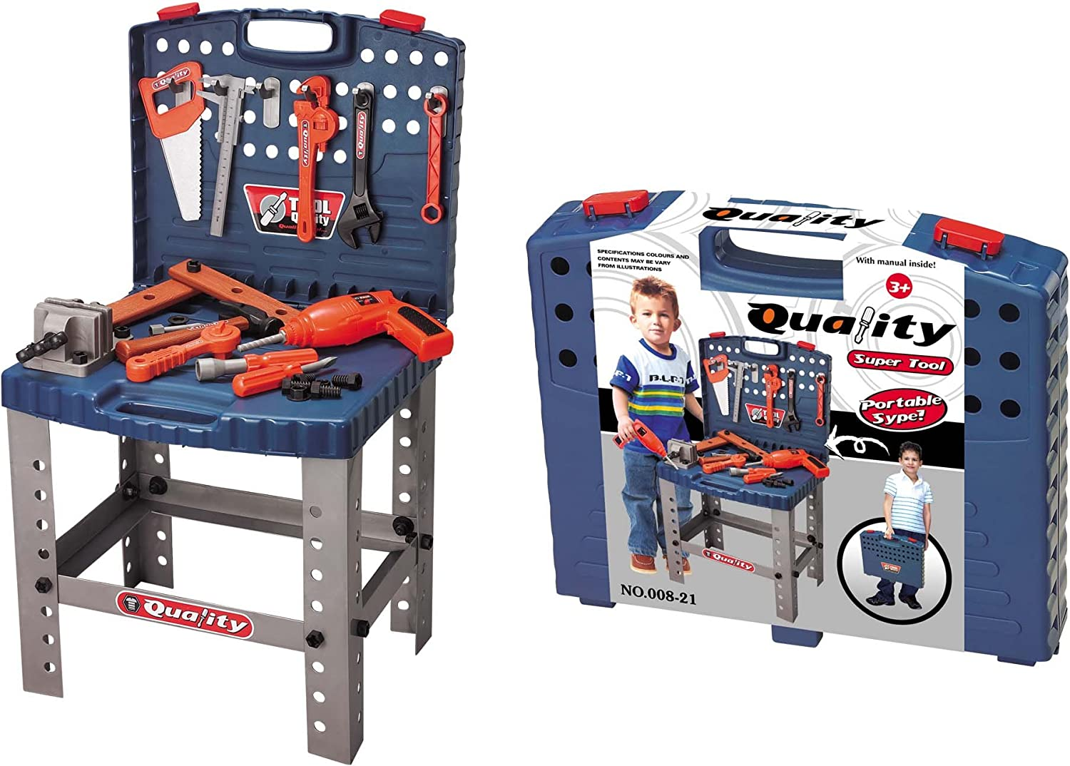 Tool Set for kids tool bench 85 pcs Workbench for Kids with Tools and Drill