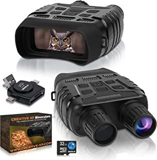 CREATIVE XP Digital Night Vision Binoculars for 100% Darkness - Save Photos & Videos with Audio – 4x35 mm Infrared Spy Gea...