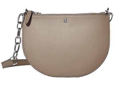 LAUREN Ralph Lauren Super Smooth Leather Sutton 22 Crossbody Medium (Taupe) Handbags