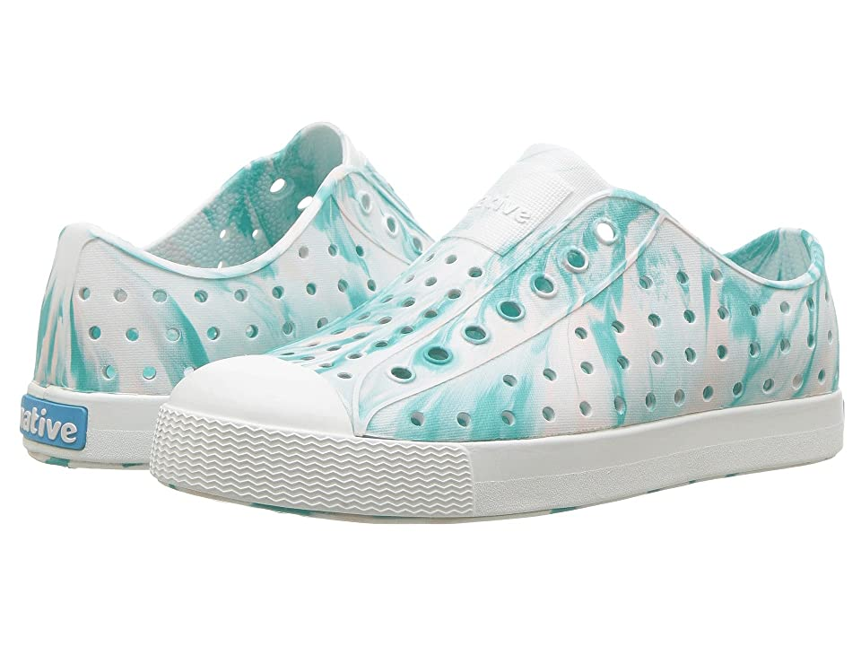 Native Kids Shoes Jefferson Marbled (Little Kid/Big Kid) (Glacier Green/Shell White/Marble) Girls Shoes