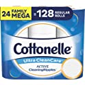 24-Pack Cottonelle Ultra CleanCare Toilet Paper with Active CleaningRipples