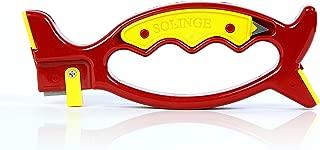Solinge Premium Knife & tool Sharpener -Sharpens manually ALL Knives (straight, Serrated), Garden Tools, Kitchen Utensils,Scissors & Blades -Self Adjustable-Doesn't Modify blade angle-Video Tutorial