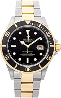 Rolex Submariner Mechanical (Automatic) Black Dial Mens Watch 16613LN (Certified Pre-Owned)