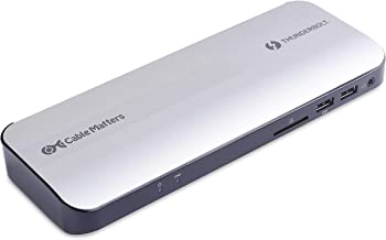 Certified Cable Matters Aluminum Thunderbolt 3 Dock with HDMI 2.0 and 60W Laptop Charging for Windows PC and MacBook Pro (Not Compatible with USB-C Ports Without The Thunderbolt Logo)