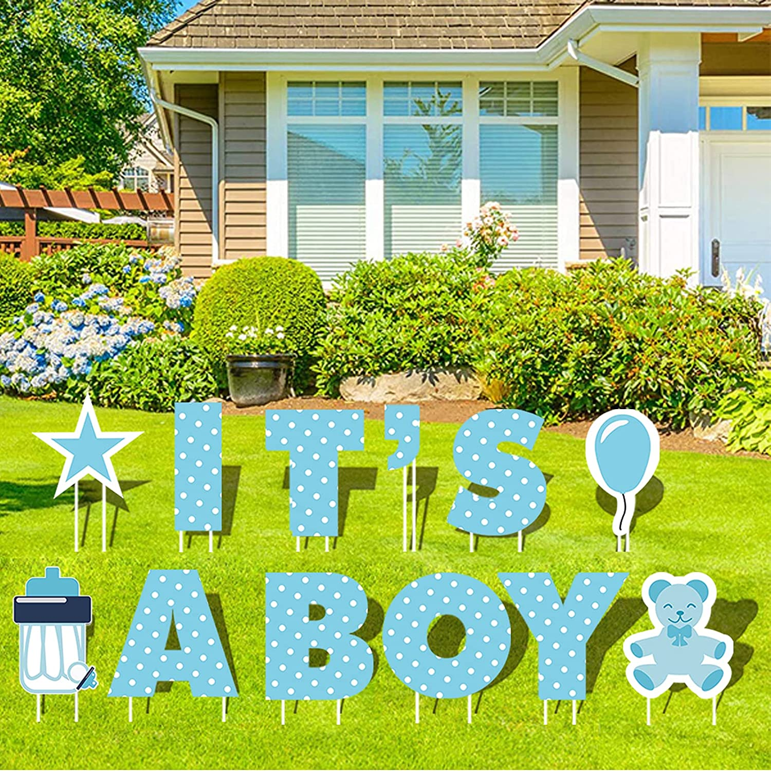 GFT Large 18 OFFer inch IT'S A Boy Baby Yard Blue with Sale Special Price Sign Signs