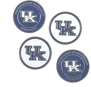 Kentucky Wildcats Double Sided UK Golf Ball Marker (Set of 4)