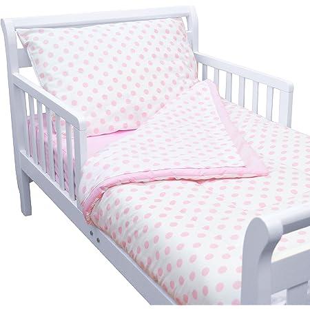 Aqua Sea Wave TL Care 100/% Cotton Percale 4Piece Toddler Bedding Set for Boys /& Girls