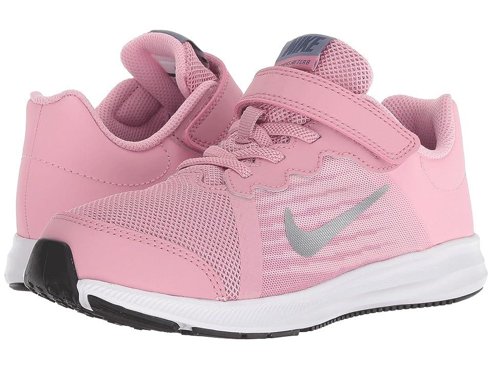 Nike Kids Downshifter 8 (Little Kid) (Elemental Pink/Metallic Silver/Pink) Girls Shoes