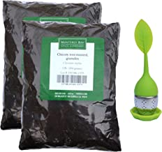 Roasted Chicory Root Granules - For Coffee and Tea - 2 Pounds Bundle w/Chicory Silicone Strainer