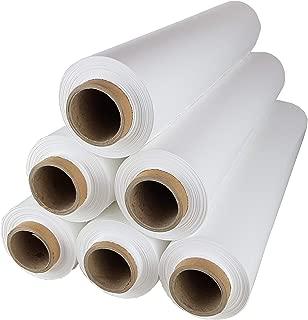 6 Rollen Beste-Folie Stretchfolie 23my 500mm - 2,5kg Palettenfolie Handfolie Wickelfolie Weiß