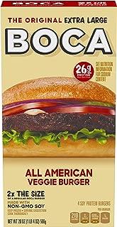 Boca Original Extra Large All American Non GMO Frozen Veggie Burgers (4 Count)