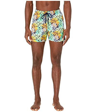 Vilebrequin Jungle Superflex Moorise Swim Trunks (Night Blue) Men