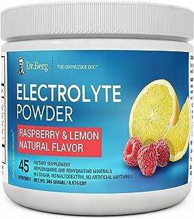 Dr. Berg's Original Electrolyte Powder - Hydration Drink Mix Supplement - Boosts Energy & Keto-Friendly - NO Maltodextrin...