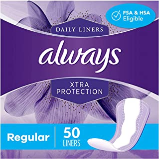 Sponsored Ad - Always Xtra Protection Daily Feminine Panty Liners for Women, 300 Count, Regular, 50 Count - Pack of 6 (300...