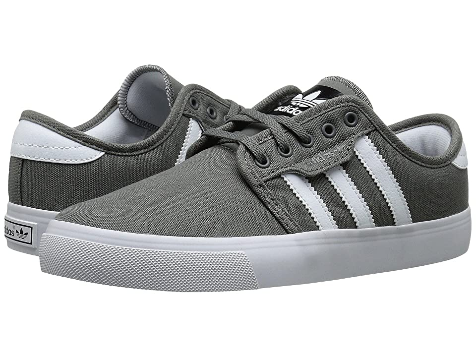 adidas Skateboarding Seeley J (Little Kid/Big Kid) (Mid Cinder/White/Black) Skate Shoes