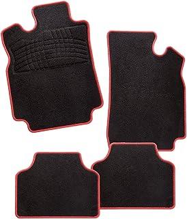 Alfombrillas negras para coche Juego completo de alfombrillas artesanales estampadas de moqueta a medida para Peugeot 406/con bordado de hilo 406 Alfombrilla trasera completa Bianco