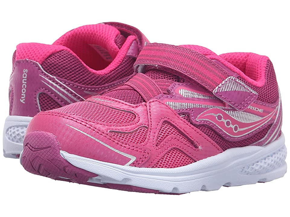 Saucony Kids Baby Ride (Toddler/Little Kid) (Pink/Berry) Girls Shoes