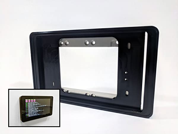 Professional Wall Mount For Raspberry Pi Touchscreen Black Anodized Aluminum