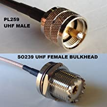 15cm RGU178 PL259 UHF Male to UHF Female BULKHEAD Pigtail Jumper RF coaxial cable 50ohm Fast USA Shipping
