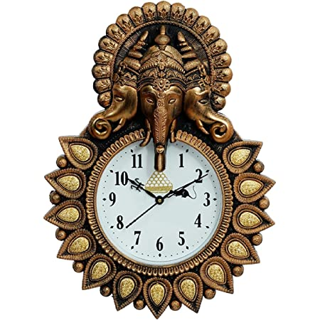 kk craft Plastic Wall Clock for Home and Office Decor, Living Room, Bedroom, Hall