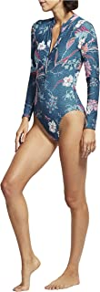 Seafolly Women's Long Sleeve One Piece Surfsuit with Zip Front Swimsuit