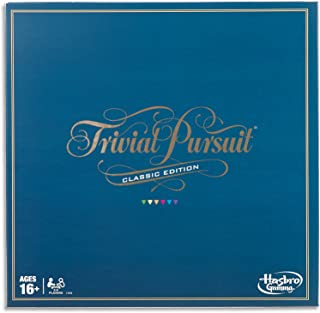 Trivial Pursuit Classic Edition - 2,400 trivia questions - 2 to 6 Players - Adult Board Games - Ages 16+
