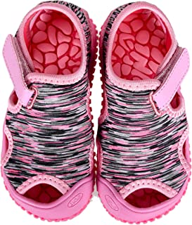 MARITONY Toddler Boys Girls Aquatic Water Shoes Sandals,Little Kids Quick Drying Closed-Toe Non Slip Sport Sandals,Summer ...