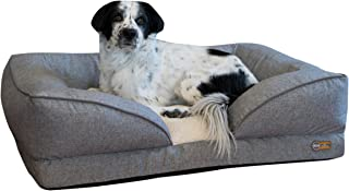 K&H Pet Products Pillow-Top Orthopedic Lounger Bolster Pet Bed