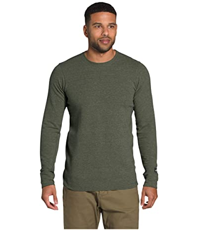 The North Face Long Sleeve TNF Terry Crew (New Taupe Green Heather) Men