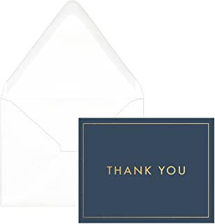 DesignWorks Ink Standard Issue Boxed Blank Thank You Cards, Simple