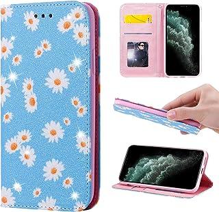 جراب محفظة مبهج لهاتف iPhone 8 Plus/7 Plus 5. 5 بوصات، جراب قلاب قلاب من جلد البولي يوريثان اللامع اللامع مع خاصية الوقوف