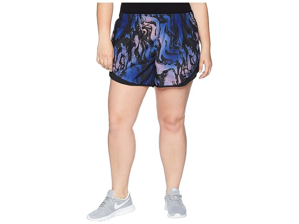 Nike Dry Tempo Print Short (Size 1X-3X) (Crimson Pulse/Black/Black/Wolf Grey) Women