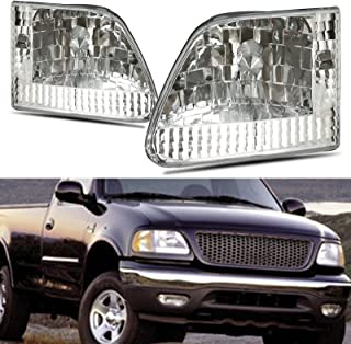 Winjet WJ10-0014-01 Euro Style Headlights for 1997-2000 Ford F-150 F-250 Expedition - Chrome/Clear