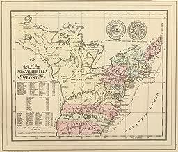 Map Poster - Original Thirteen Colonies. - 24