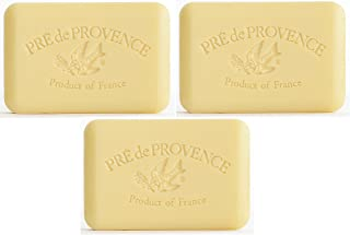 Pre de Provence Artisanal French Soap Bar (250 grams) - Sweet Lemon - 3 Pack