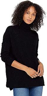 womens black turtleneck tunic sweater