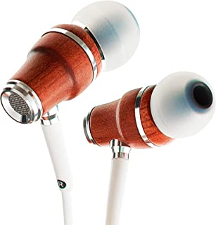 Symphonized NRG X Wood Earbuds Wired with Microphone, Stereo in Ear Headphones for Computer & Laptop, Noise Isolating Earp...