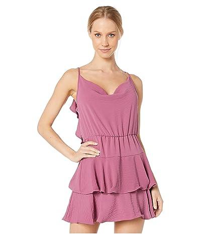 BCBGeneration Cowl Neck Ruffle Dress YFU66O24 (Plum) Women