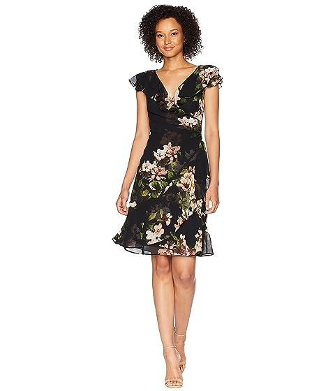Webby Day Dress, Black/Cream/Multi