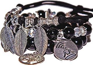 Men's bracelets, Mens gifts, Mindfulness bracelet men, Mens Meditation bracelets set, Adjustable bracelet for him, Yoga br...