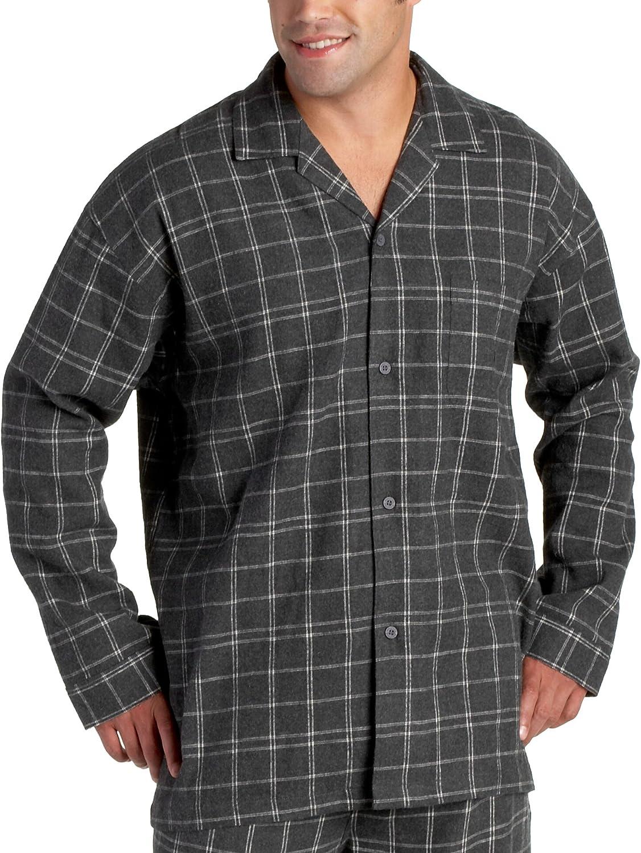 Nautica Sleepwear Men's Sterling Plaid Flannel Long Sleeve Shirt