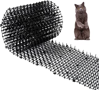 """Cat Mat with Spikes Prickle Strips Anti-Cats Network Digging Stopper Pest Repellent Spike Deterrent Mat, 78""""x11"""""""