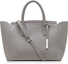 LaBante London 'Grant' Vegan Leather Carryall Laptop Bag for Women Grey LB18A003